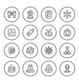 set round line icons of business vector image vector image