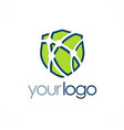 shield tehnology logo vector image vector image