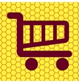 Shopping basket Flat modern web button and space vector image