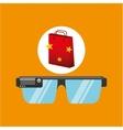 smart glasses red bag gift star design