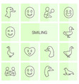 smiling icons vector image vector image