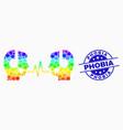spectrum pixelated operator dialog signal vector image vector image