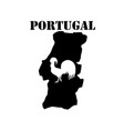 symbol of portugal and maps vector image vector image