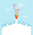 toilet rocket with turbine is flying jet toilet vector image