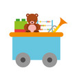 train wagon toy with toys vector image vector image