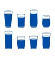water glass silhouette vector image vector image