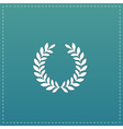 wreath flat icon vector image