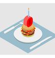 zero holiday burger Zero with andle Burger vector image vector image