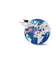 study abroad concept design vector image
