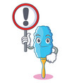 with sign feather duster character cartoon vector image