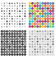 100 medical care icons set variant vector image vector image
