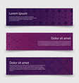 abstract banners template with decorative celtic vector image vector image