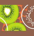 abstract fruit design kiwi fruit vector image vector image