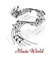Abstract music wave design vector image vector image