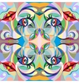 Abstract portrait of woman pattern vector image vector image