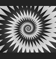 abstract spiral background in black and white vector image vector image