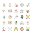 artificial intelligence flat icons collecti vector image