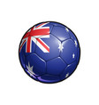 australian flag football - soccer ball vector image vector image