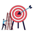 businessman climb stairs target arrow vector image