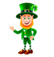 cartoon saint patrick smiling isolated vector image