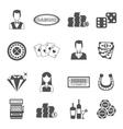 Casino Black White Icons Set vector image vector image