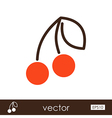 Cherry outline icon Fruit vector image vector image
