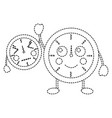 clock kawaii icon image vector image