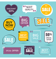 collection of premium promo sale stickers vector image vector image