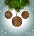 cones like christmas balls hanging on pine vector image vector image