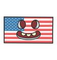 creepy american flag cartoon vector image vector image