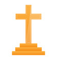 cross in a stair vector image vector image