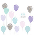 cute birthday card with balloons for holidays vector image vector image