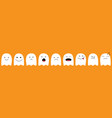 cute ghost emoji icon set happy halloween vector image