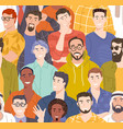 diverse male seamless vector image