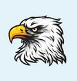 Eagle head mascot logo vector image