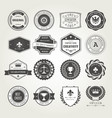 emblems badges and stamps set - awards and seals vector image