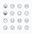 Emoji avatar collection set emoticons isolated ico vector image