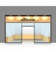 Empty shop front vector image vector image