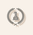 first place icon golden number one symbol in vector image vector image