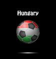 flag of hungary in the form of a soccer ball vector image
