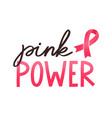 girl power handwritten lettering women vector image vector image