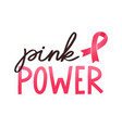 girl power handwritten lettering women vector image