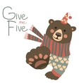 Give me five vector image