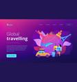 Global travelling concept landing page
