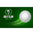 Golf Card vector image vector image