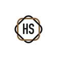 initial letter hs elegance logo design template vector image vector image