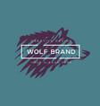 logotype wolf vector image
