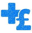 Medical Pound Business Grainy Texture Icon vector image
