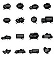 messages icon set vector image