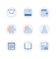 Modern pictogram collection concept vector image